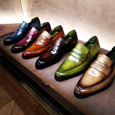 Instagram media whatmakesmetick - Choices....choices. The plethora of amazing patinas at Berluti