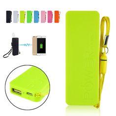 Ultra-thin 5600mAh Vivid colors mobile USB power bank general charger external backup battery pack | #PowerBankforHTC