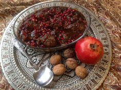fesenjan- perzsa gránátalmás-diós csirke Fruit, Dios