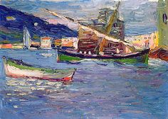 416 best images about kandinsky paintings on Wassily Kandinsky, Abstract Landscape, Landscape Paintings, Abstract Art, Cavalier Bleu, Monet, Franz Marc, Boat Painting, Paul Klee