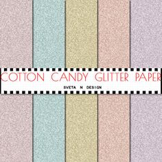 Glitter Pastel Digital Paper Pattern Background Texture Overlay - Instant Download - Cotton Candy Glitter