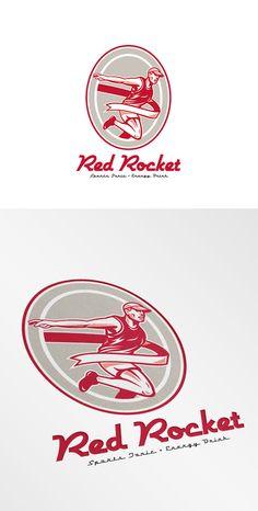 Red Rocket Sports Tonic Logo by patrimonio on Creative Market