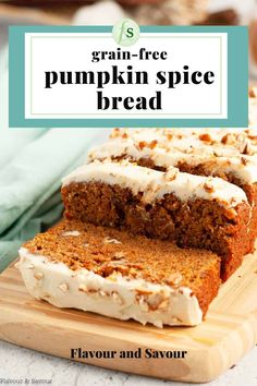 This gluten-free Pumpkin Spice Bread is warmly spiced, moist bread that's easy to make. Made with a winning combination of almond flour and tapioca flour, it has a tender texture. With lots of pumpkin flavour, this pumpkin bread is a fall treat! #glutenfree #almondflour #tapiocaflour Pumpkin Spice Bread, Pumpkin Loaf, Canned Pumpkin, Quick Bread, How To Make Bread, Muffin Recipes, Cake Recipes, Gluten Free Pumpkin, Fall Treats