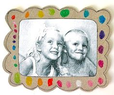 Transform a cereal box into a Cardboard Picture Frame with this recycled craft for kids. Let them decorate the frame and put a magnet on the back so you can display it on the fridge. This frame makes a cute gift for grandma and grandpa's house. Cute Kids Crafts, Recycled Crafts Kids, Preschool Crafts, Recycle Crafts, Recycling Projects, Kid Crafts, Cardboard Picture Frames, Box Picture Frames, Kindergarten Christmas Crafts