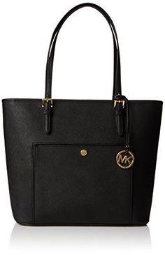 MICHAEL Michael KorsJet Set Large Saffiano Leather Tote, Color Black #tote