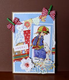 colourful card with a Snoesjes 3D image
