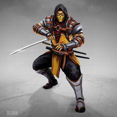 Scorpion Mortal Kombat, Mortal Kombat Art, Claude Van Damme, Famous Warriors, Nostalgia, Ninja Art, Batman, Ninja Warrior, Game Character Design