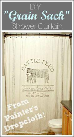 Drop cloth , stencil, shower curtain