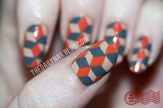 Feeling Boxed In? I think this manicure falls into the nerd-arty or geek-arty category. I love tessellations and optical illusions, so this was a perfect marriage of nail art and nerd, while still remaining pretty! :) See Full Post (for more pictures, and the words that describe them too!)