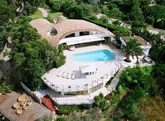 A Modern Home in Cannes, France - An aerial view of the property.