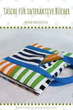 EGGsclusiv: Tip Toi Tasche nähen, Rheinstich, Taschen nähen, Nähen für Kinder, Schnittmuster Freebook