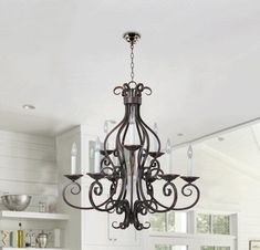 C188-2665 Hamilton Home Oil Rubbed Bronze Finished Multi Tier Chandelier Chandeliers Lighting  - Good for Dining Room, Foyer, Entryway !