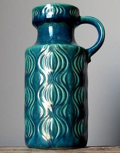Blue onion Glaze Vase: West German Pottery via eBay Collections