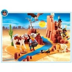 Playmobil Western play sets remind me of kids playing Cowboys and Indians all day long, during lazy summer days of the past. Playmobil Superset...