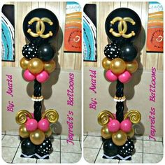 Balloon Tower, Balloon Columns, Red Balloon, Balloon Arch, Balloon Arrangements, Balloon Centerpieces, Balloon Decorations Party, Party Props, Chanel Birthday Party