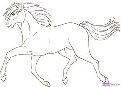 How To Draw A Running Horse Step By Farm Animals Free