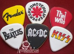 Rock Band Cookies by Amigalletas on Etsy, $39.00