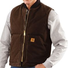 Carhartt Sandstone Duck Vest - Insulated (For Men))