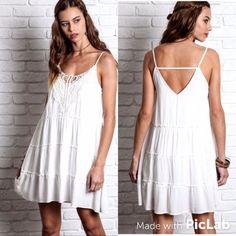 White Bohemian Cami Dress S M L
