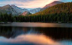 Herunterladen hintergrundbild 4k, bear lake, sonnenuntergang, idaho, utah, amerika, usa