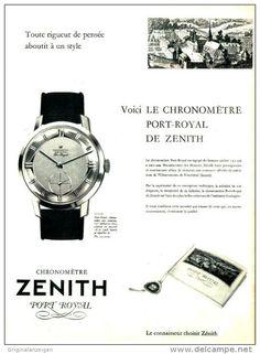 Original-Anzeige / Publicité 1957 - (en français) MONTRE ZENITH - ca. 240 x 320 mm
