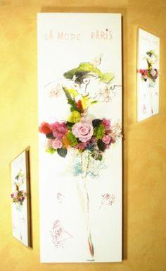 tableau-vegetal-stabilie-rose-eternelle-preservee-mode-paris-90x30cm