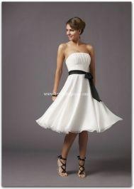 "Mori Lee ""Affairs"" Cocktail Dresses - Style 735 in cream with claret sash"
