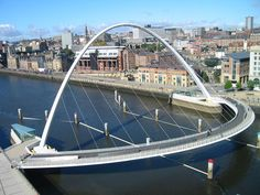 Gateshead millennium Bridge, Newcastle, England.  This is and amazing bridge. It tilts to let boats pass under.