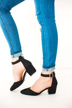 e67581c873d Black Pointed Toe Heel With Open Sides - Feed The Addiction - Forever Young  Shoes Black