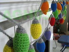 Crochet Light Garland or Ornaments