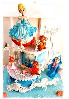 Cake for my daughter...Cinderella by Galia Hristova  Art Studio