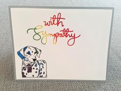 By DT Member: Jessica B: I'm having a lot of fun with these AKC dog stamps. Of course this isn't a particularly fun card to have to send....I love that the dalmatian's dots are open so that they can be colored in. I went with a rainbow bridge idea for this pet sympathy card. http://www.jessicalynnoriginal.com/akc-dog-101-dalmatian-dog-clear-stamps/ #dogstamp #dalmatian #Rainbowbridge #sosorry #RIPpup #Puppy #dog