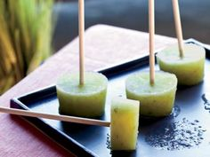 Ice Pops for Grown Ups - Cucumber-Lime Pops with Gin http://www ...
