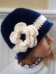 imagenes de como hacer un gorro de lana para niña