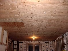"1/2"" Plywood ceiling base before applying tin ceiling"