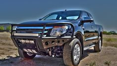 This is the brand new Ford Ranger currently available outside of the US. ADD has added custom front & rear bumpers to make it stand out just that little more! Lifted Ford, Body Armor, Ford Ranger, Rally, Offroad, 4x4, Military, Trucks, Wallpaper