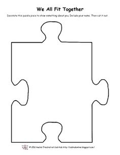 Puzzle Piece Template that Fit together Unique We All Fit together Classbuilding Activity Teacherspayteachers 1st Day Of School, Art School, School Ideas, Back To School Activities, Preschool Activities, Friendship Theme, Classe D'art, Autism Awareness Month, Autism Awareness Crafts