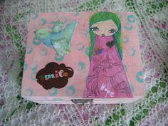 Smile Mixed Media Wooden Box/keepsake/cards by eltsamp on Etsy, $25.00