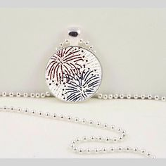 Go out with a bang this fireworks pendant.