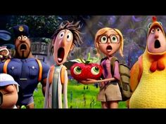 Roundtable Interview With Bill Hader, Anna Faris, And Benjamin Bratt On Cloudy With A Chance Of Meatballs 2 Bill Hader, Aquaman, Flint Lockwood, Trailer Peliculas, Meatballs 2, Disney Pixar, Disney Characters, Disney Movies, Movie Previews