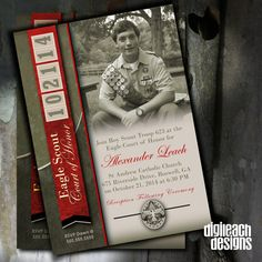 Eagle Scout Court of Honor Invitation: Leather by DigileachDesigns