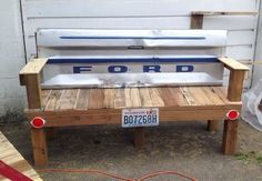 instructions for building a tailgate bench