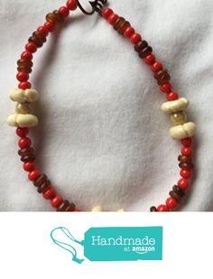 Red Brown and Beige Stone Beads 9 Inch Anklet Bracelet https://www.amazon.com/dp/B01MSYVK1H/ref=hnd_sw_r_pi_dp_3lmuybKJ7MB6P #handmadeatamazon