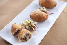 Papas Rellenas - My recipe lets you make this classic South American street food at home! Potatoes stuffed with a cheese and beef mixture and fried. Indian Food Recipes, Beef Recipes, Cooking Recipes, Ethnic Recipes, Potato Recipes, Appetizer Recipes, Dinner Recipes, Appetizers, Dinner Ideas