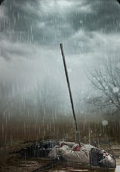 Karty pogody  - Ulewny deszcz