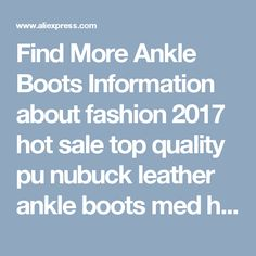 Find More Ankle Boots Information about fashion 2017 hot sale top quality pu nubuck leather ankle boots med heel round toe solid black leisure women shoes,High Quality womens flat shoes,China shoes on sale for women Suppliers, Cheap women glasses from MORAZORA on Aliexpress.com