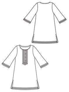 Burda Style Pattern: 121 - Flared Tunic 02/2013 - $5.99