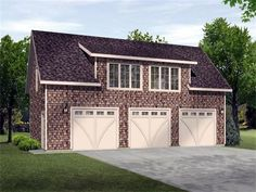THE ADVANTAGE 880SQ FT 3 CAR GARAGE WITH 1BR/1BTH 741SQ FT APARTMENT ABOVE : TOTAL OF 1,621SQ FT X $24.95= $40,444