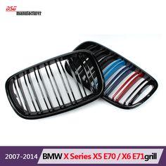 M Sport X5 M Design Tri Color Black Front Bumper Grill Emblem For Bmw X Series 2006 2013 X5