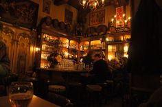 Int Aepjen bar in Amsterdam.  15th century home that is now an incredibly comfortable pub